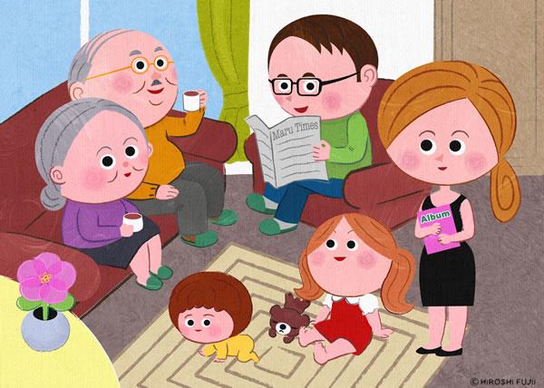 家族部屋の中