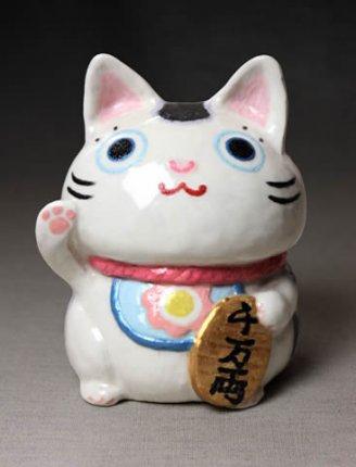 にゃん福°招き猫置物